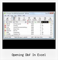 Dbf Update With Datatable opening dbf in excel