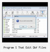 Access Dbase program s that edit dbf files