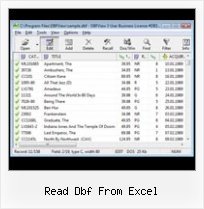 Open Nbf read dbf from excel