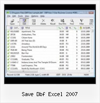 Opening Foxpro Dbf save dbf excel 2007