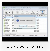 Convert Foxpro Dbf To Xls save xls 2007 in dbf file