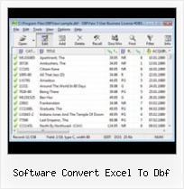 конвертер Xls в Dbf software convert excel to dbf