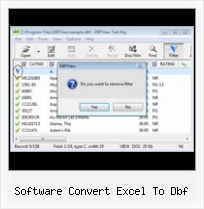 Delete Files From Dbf software convert excel to dbf