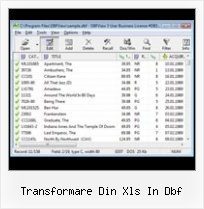 Access Export Nach Dbase transformare din xls in dbf