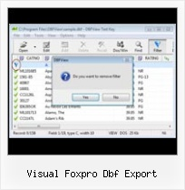 Create Dbf File visual foxpro dbf export