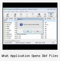 Xls Into Dbf Converter what application opens dbf files