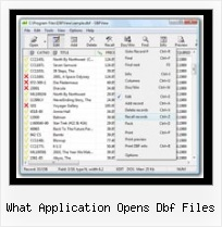 Free Dbf Files Viewer what application opens dbf files