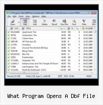 Convert Xls To Db what program opens a dbf file