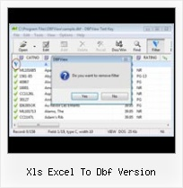 Export Access To Dbase xls excel to dbf version