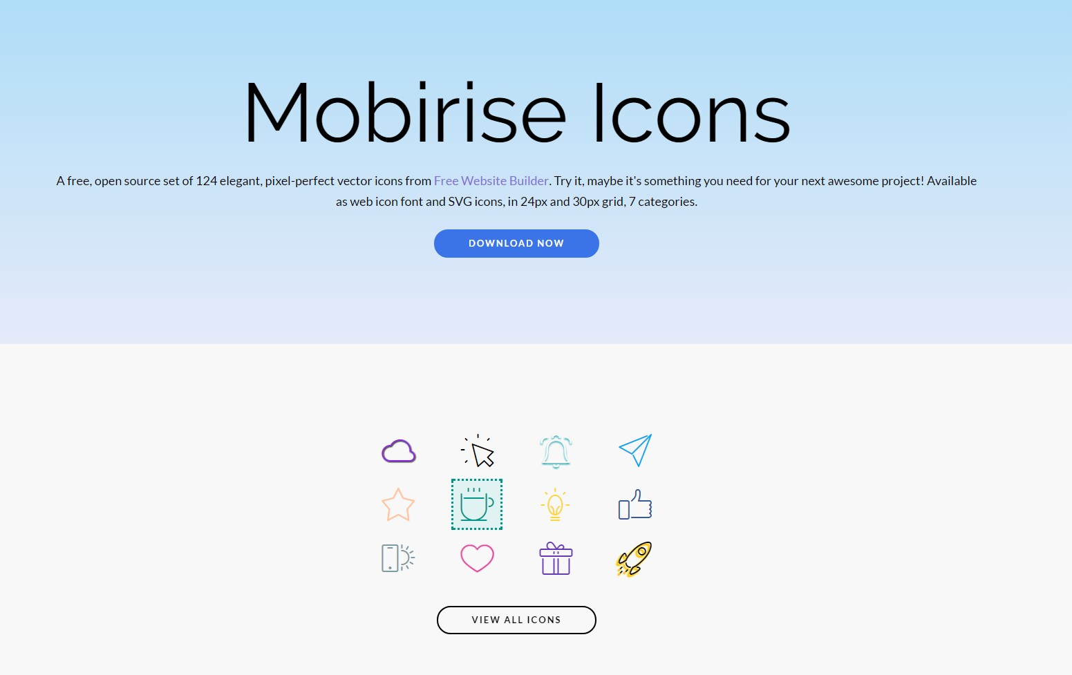 mobirise icons group