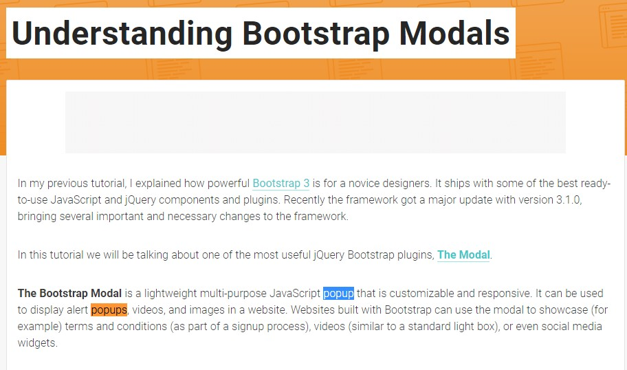 Yet another  practical article  regarding Bootstrap Modal Popup