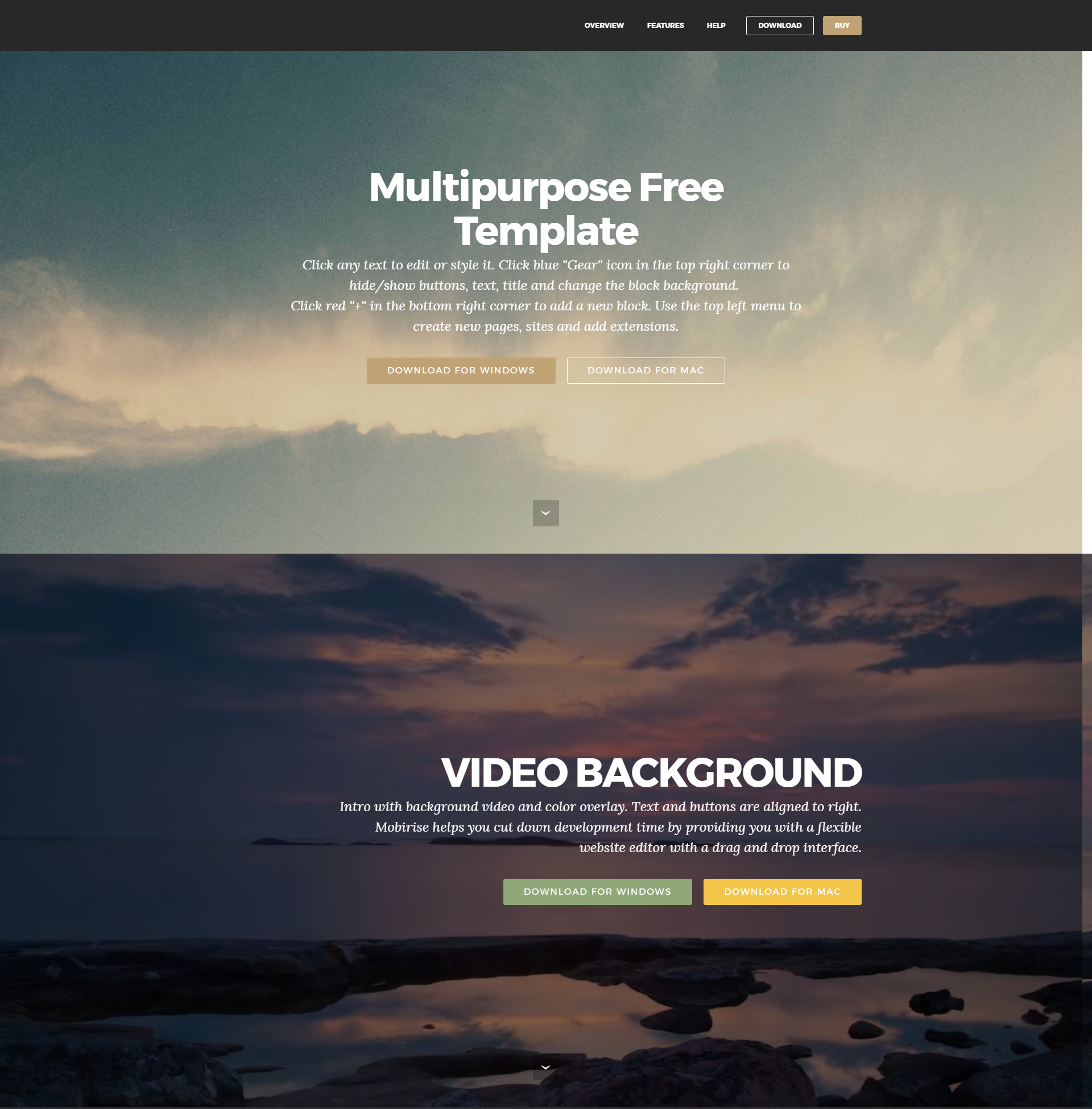 Free Download Bootstrap Templates