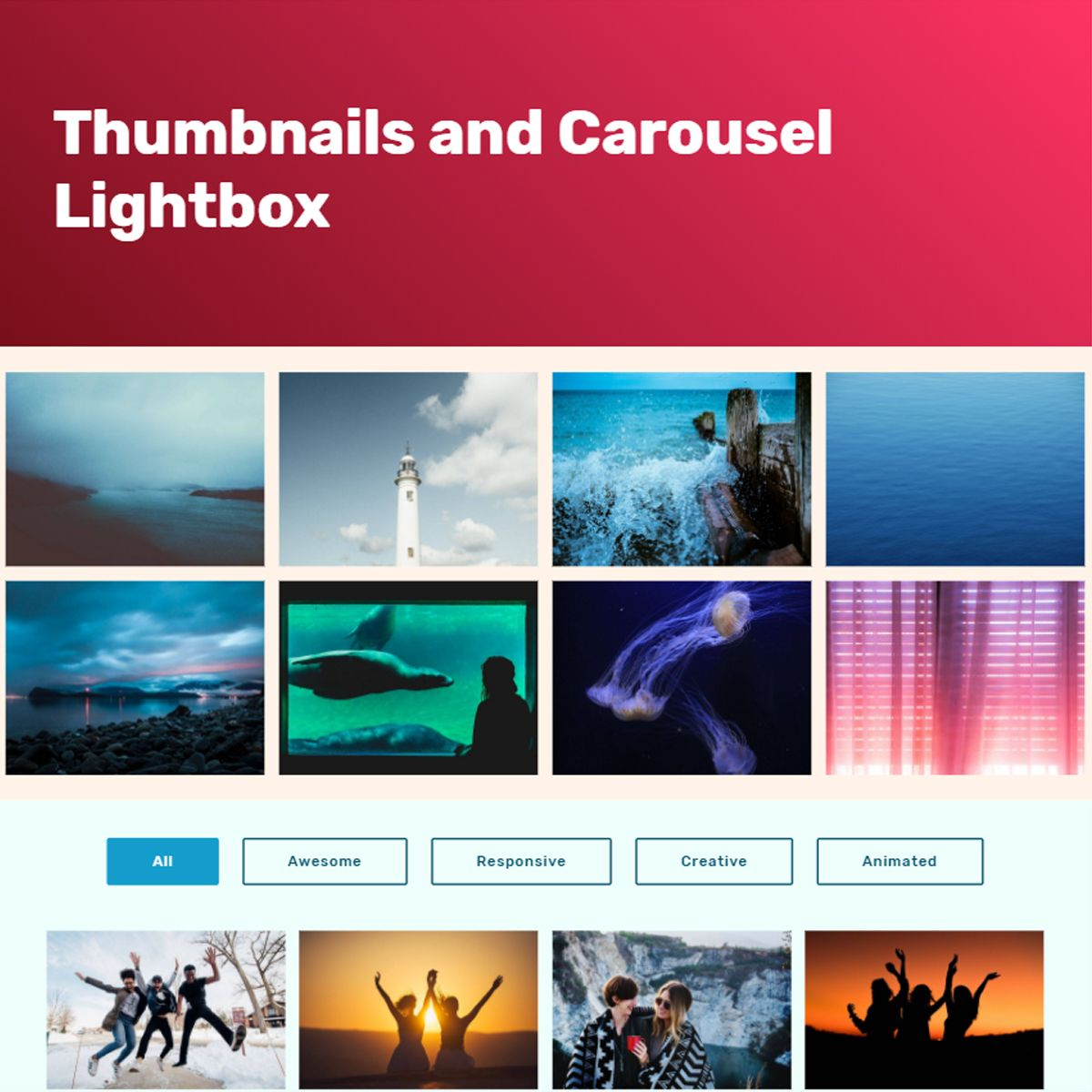 Mobile Bootstrap Photo Carousel