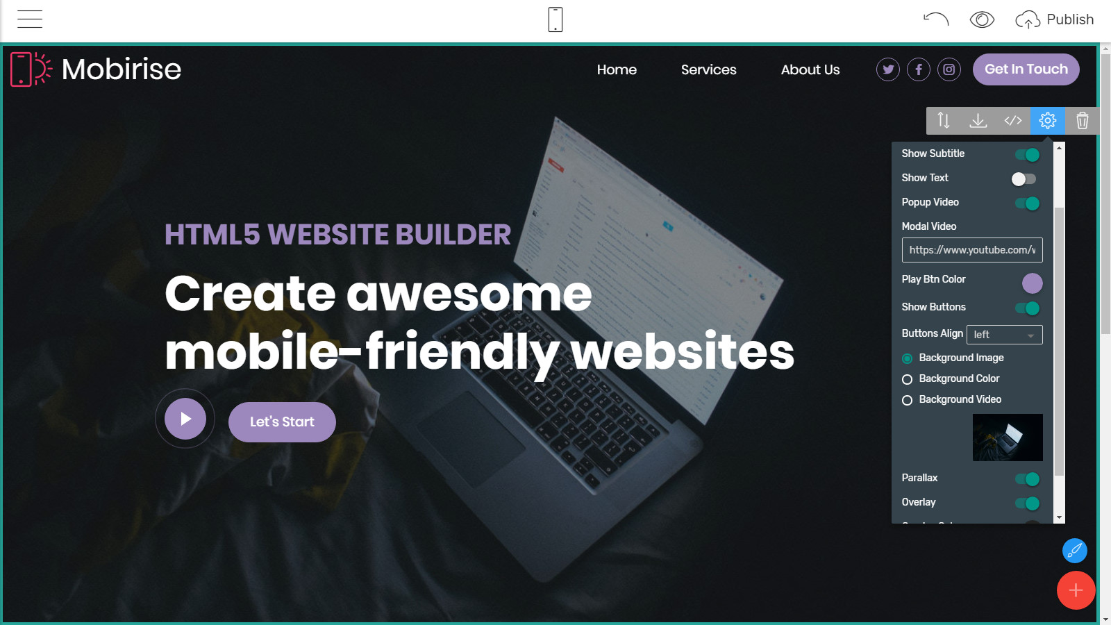 html5 site layouts